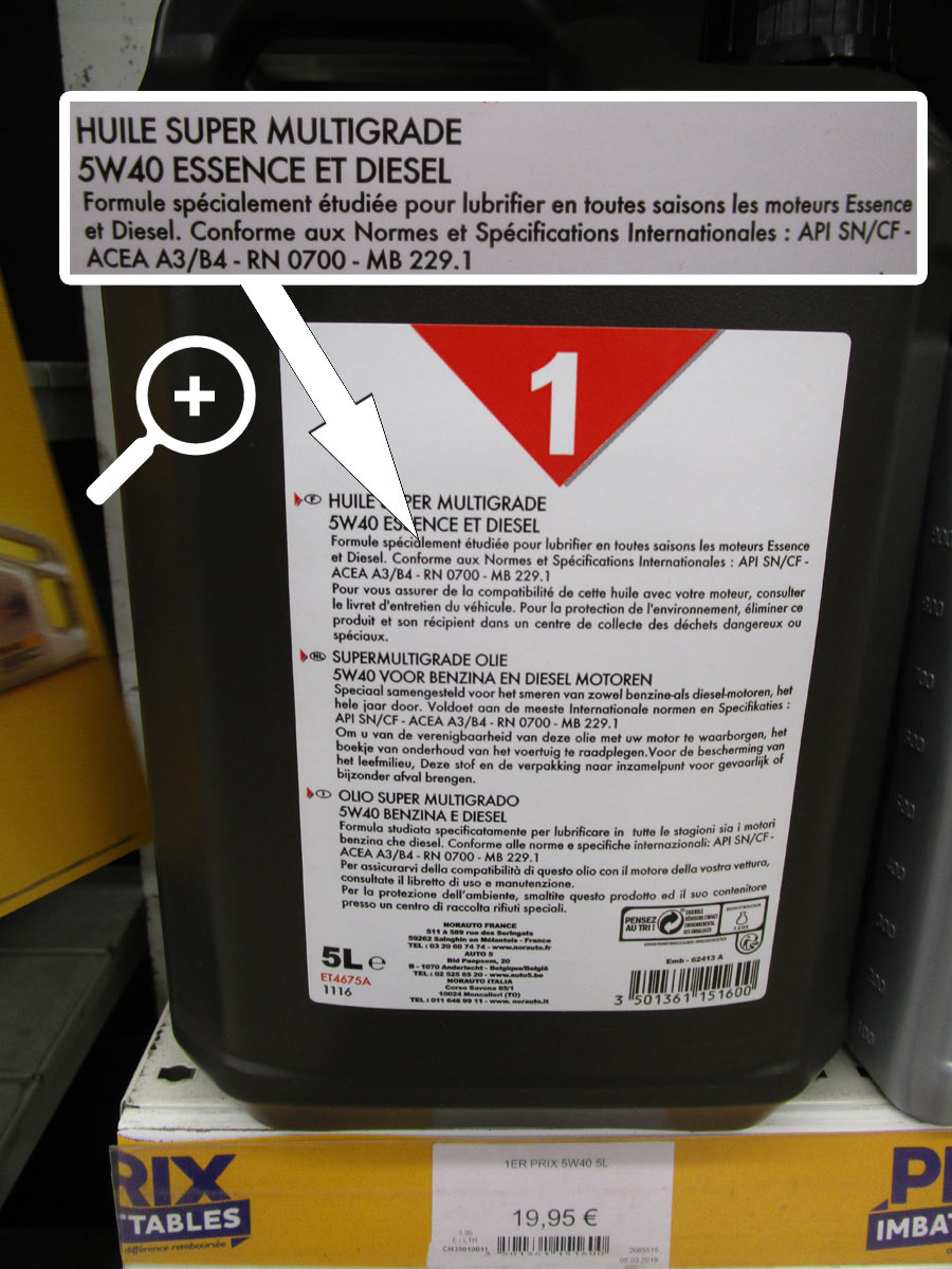 huile de vidange norauto