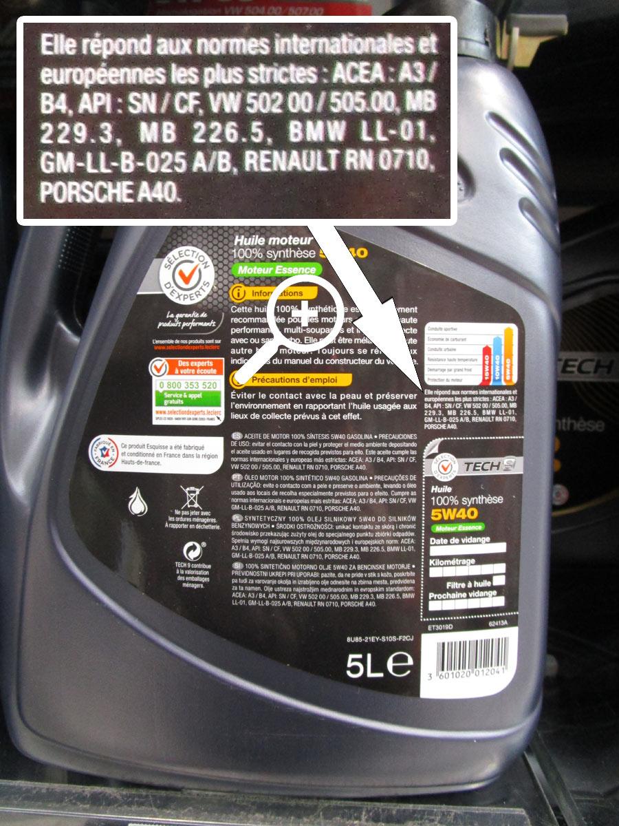 huile moteur de marque distributeur leclerc
