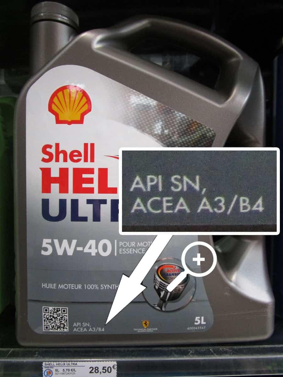huile moteur shell
